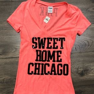 Pink! Sweet Home Chicago tee